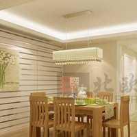 灯具暖色调白色餐厅装修效果图