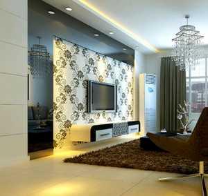 休闲沙发装饰画沙发家具茶几客厅吊灯紫金风景线清新风格客厅装修效果图