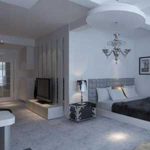 室內廚房白色實木家具裝修效果圖