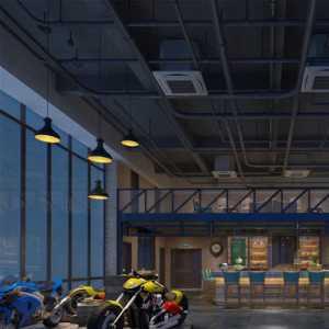地中海客廳三居室藍色地中海風格大客廳飄窗設計效果圖