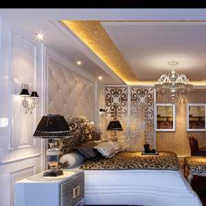 白色系 半山别墅的大气卧室