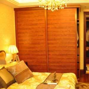混搭風格三居室臥室窗簾裝修圖片