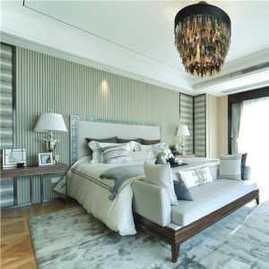 白色墙面干净现代三居卧室130平米三室两厅两卫装修效果