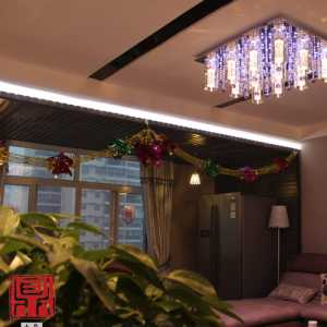 《逸扬州》扬州景瑞望府140平米中式风格品蓝设计工厂装修效果图