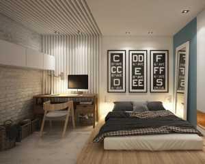 裸露的砖墙装饰的卧室设计