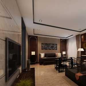 华泰御景园现代风客厅电视墙装修设计效果图