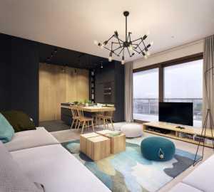 客厅混搭沙发140平米装修效果图