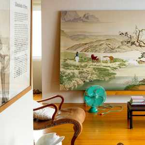 美式臥室床頭花紋壁紙裝修效果圖