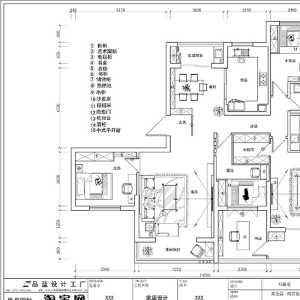 《锦绣华城》__现代简约五房两厅149.平米平面布置图