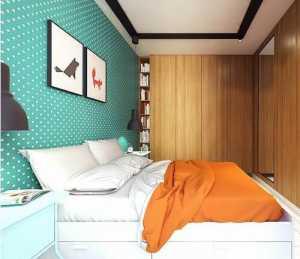 温馨时尚卧室混搭吊顶三居室蓝色15-30万白色木器实色120-150平米