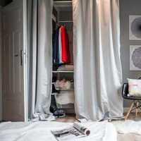 卧室三居白色卧室背景墙装修效果图