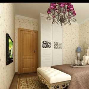 滨江国际现代卧室壁纸装修设计效果图