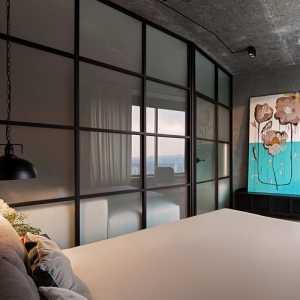 《醉宜居》江西南昌万达城94平米现代风格设计品蓝设计工厂效果图欣赏