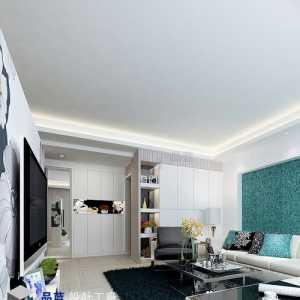 正商城80平方两室两厅新中式案例装修效果图