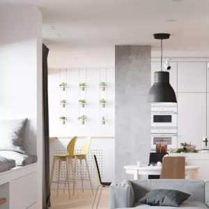 极简生活中的一点点颜色:白俄罗斯二层复式公寓设计