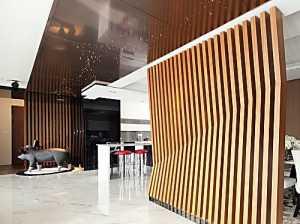 淺嘗春色現代風客廳沙發背景墻裝修效果圖