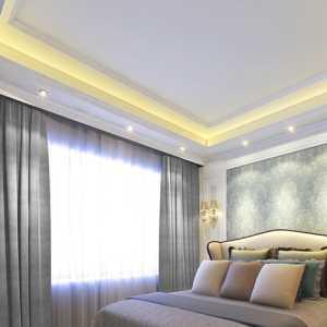 美式臥室房間設計效果裝修效果圖