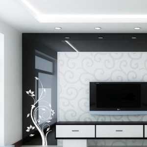 簡單的一居電視背景牆裝修效果圖