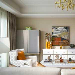客厅灰色壁布装修效果图