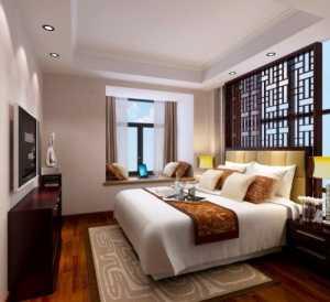 臥室家裝美式床裝修效果圖