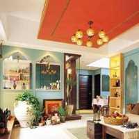 美式客厅实木家具四居装修效果图