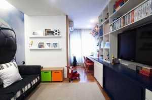 创意家居家居收纳书柜单身公寓宜家一室一厅书房吊顶装修图片单身公寓宜家一室一厅书桌图片效果图