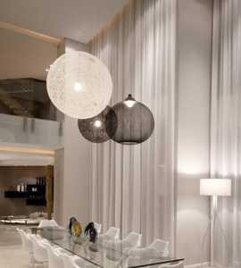 简洁吊顶豪华型现代简约复式清新30万-50万白色别墅餐厅