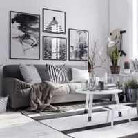 90平米客厅富裕型灯具装修效果图