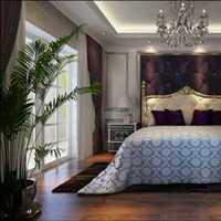 现代风格田园一居室内隔断装修效果图