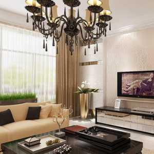 北京客廳裝修瓷磚電視墻