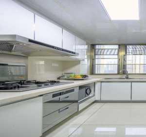 別墅一字型廚房裝修效果圖