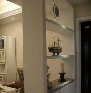 95平米三室二厅一卫暗客厅一边两门一边有窗装修效果图