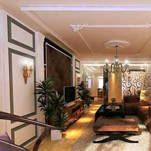 歐式二居電視背景墻簡歐風格客廳裝修效果圖