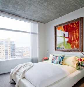88平現代風公寓臥室飄窗裝修效果圖