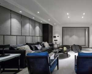 现代简约大户型公寓客厅中性色