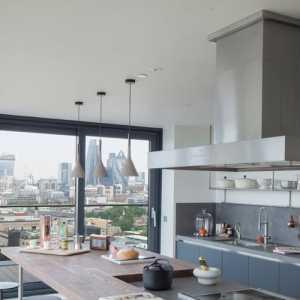 櫥柜田園90㎡充滿春的氣息の廚房裝修效果圖