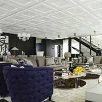 复式现代客厅布沙发装修效果图