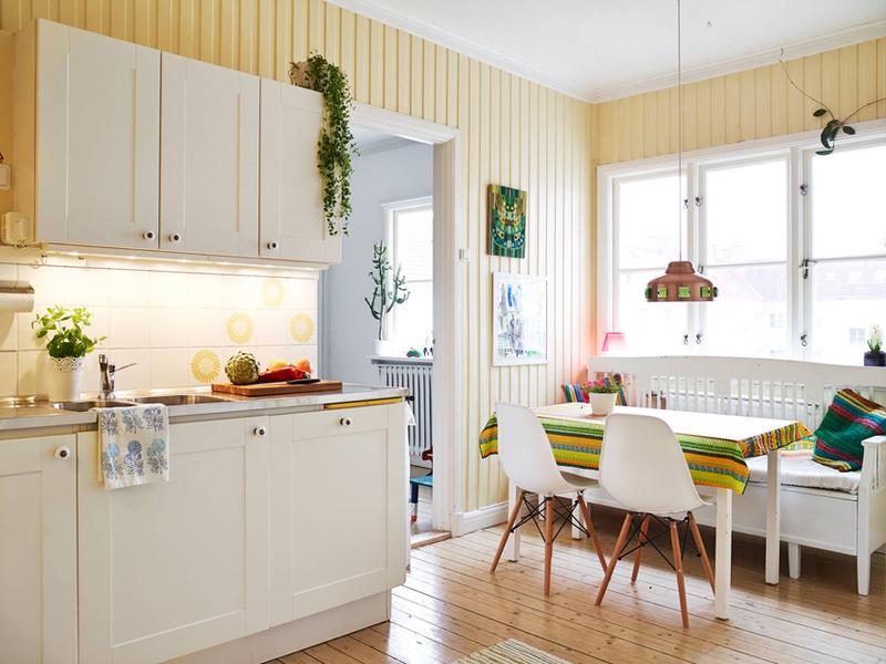 76平方米彩色北欧风格两居室公寓 自然感十足