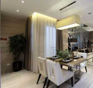 小清新風營造望園東里117平單身現代居所三居室裝修效果圖
