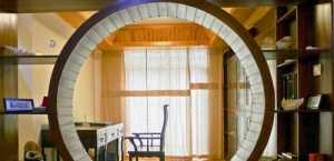 现代旧房改造装修客厅效果图