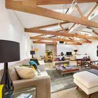 现代创意别墅起居室装修效果图