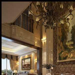 贝肯山260平米美式风格天津别墅装修案例