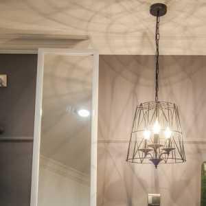 雙人床抽屜柜床頭柜背景墻家具新古典床頭柜昆明佳樂花苑復式樣板間主臥室背景墻裝修效果圖