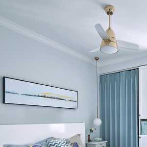 珠江新城珠江别墅现代卧室窗帘装修设计效果图