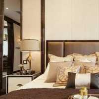 现代风格公寓卧室咖啡色背景墙点缀装饰效果图大全
