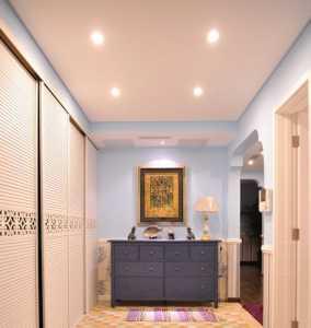 85平方美式田園風格客廳窗戶設計裝修效果圖