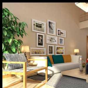 条纹花色孔雀风现代三居卧室130平米三室两厅两卫装修效果