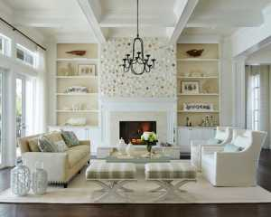 那些对称的大客厅设计