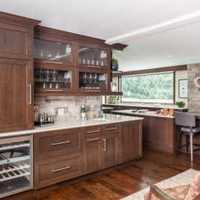 暖色厨房简约三居装修效果图