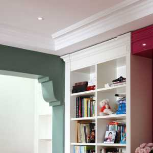 儿童房小平米墙面书柜装修效果图